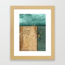 A Midsummer Dip Framed Art Print