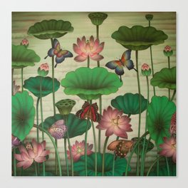 Lotus Painting Canvas Print