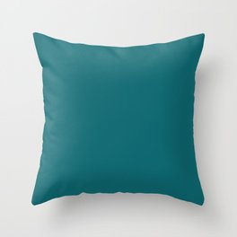 Solid dark turquoise bluish Throw Pillow