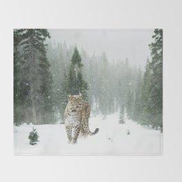 Leopard persian Throw Blanket