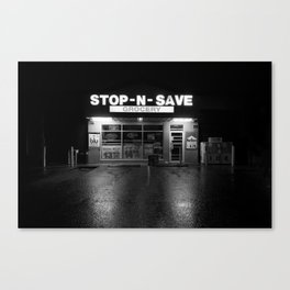 stop-n-save - Midnight Bodega Series Canvas Print