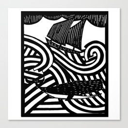 Herman - Paper Cut Illustration. 2015 Canvas Print