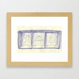 Ball Point Framed Art Print