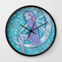Star Watcher Fairy Wall Clock