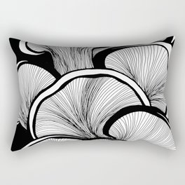 Mushrooms in black and white Rectangular Pillow