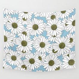 Daisy Blue Wall Tapestry