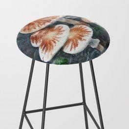 Family of mushrooms by Teresa Thompson Bar Stool