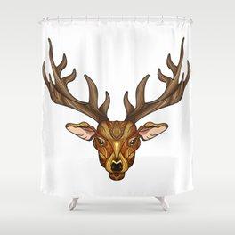 Deer Park- MI_Brown Shower Curtain