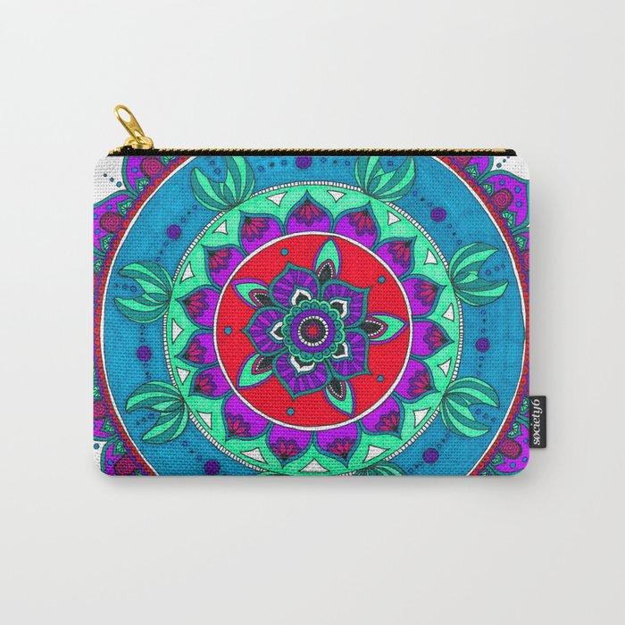 Little Mermaid Inspired Mandala Art Carry-All Pouch