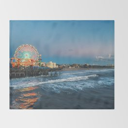 Wheel of Fortune - Santa Monica, California Throw Blanket
