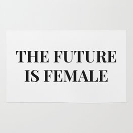The future is female white-black Rug