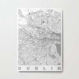 Dublin Map Line Metal Print