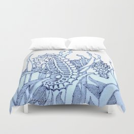 Abstract Sea horse Design By Catherine Coyle Duvet Cover