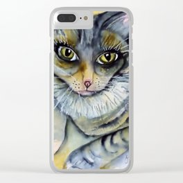 Cleo Kitty Clear iPhone Case