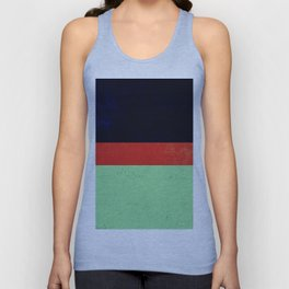 Navy, red and mint design Unisex Tank Top