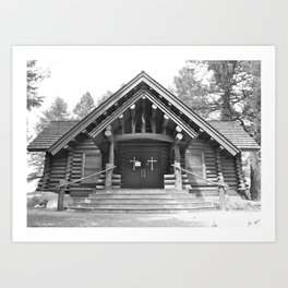 Chapel of the Sacred Heart - Grand Teton National Park - Wyoming Art Print