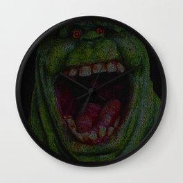 Slimer: Ghostbusters Screenplay Print Wall Clock