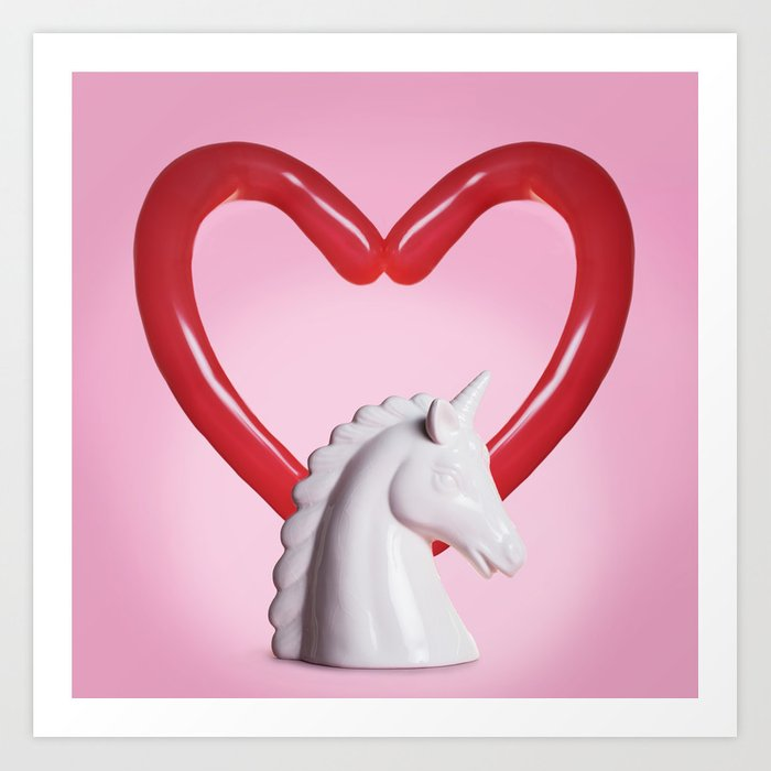 Unicorn ode Art Print