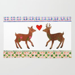 Deer in Love Rug