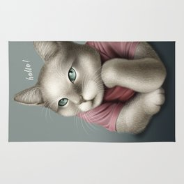 HELLO CAT Rug
