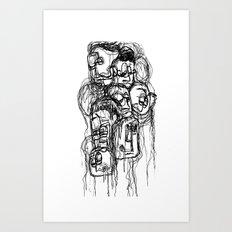Bobblehead sketch Art Print