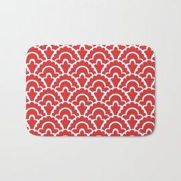 Fan Pattern Red 118 Bath Mat