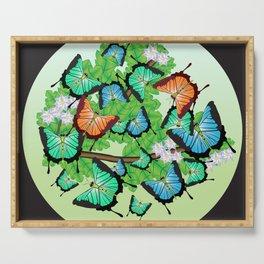 Lots of butterflies Serving Tray