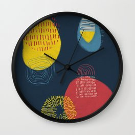 Colour and pattern - Abstract 1 Wall Clock