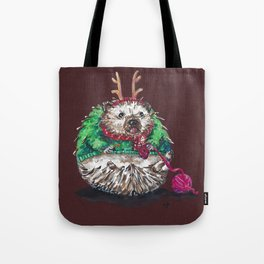 Holiday Sweater Crochet Critter Tote Bag