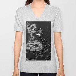 Midnight Toker (#3), Smoking Lady Series Unisex V-Neck