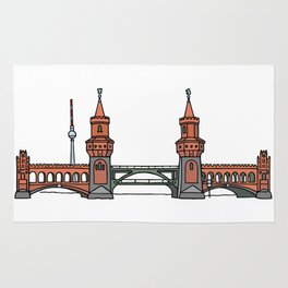 Oberbaum Bridge in Berlin Rug
