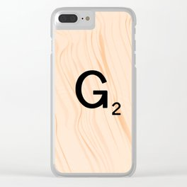 Scrabble Letter G - Scrabble Art and Apparel Clear iPhone Case