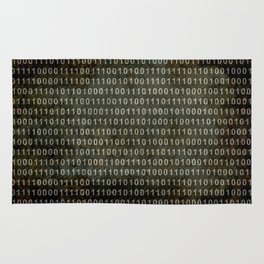 The Binary Code - Distressed textured version Rug