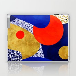 Terrazzo galaxy blue night yellow gold orange Laptop & iPad Skin