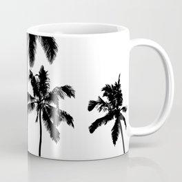 Monochrome tropical palms Coffee Mug