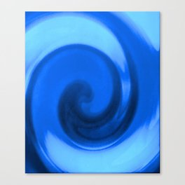 Blue tie dye Canvas Print