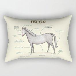Anatomy of a Horse Rectangular Pillow