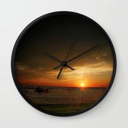 Texas Sunset Wall Clock