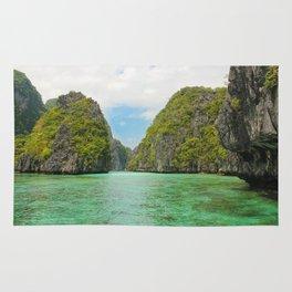 Paradise landscape El Nido Palawan Philippines Rug