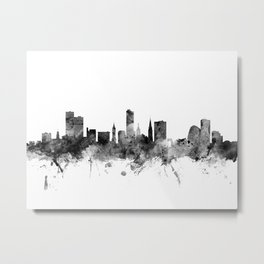 Leicester England Skyline Metal Print