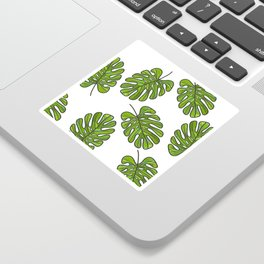 UrbanNesian Green Monstera Leaf Sticker