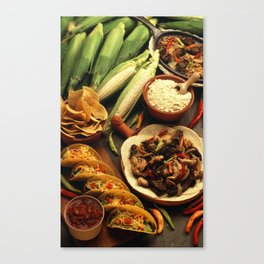 Mexican Food Canvas Print