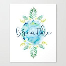 Breathe - Watercolor Canvas Print