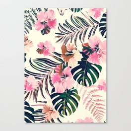 tropical flowers  2 Canvas Print