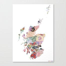 Scotland map - Portrait Canvas Print