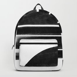 black and white shapes Backpack