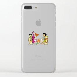 all familly Fred Flintstone Clear iPhone Case