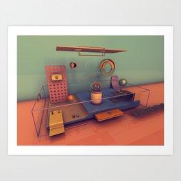 #01 Playground Boxes Art Print