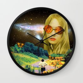 Distant Meeting Wall Clock