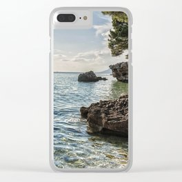 Seaside of Riviera Makarska in Croatia Clear iPhone Case